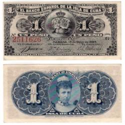 Cuba Colonial. 1896. 1 Peso (EBC+)
