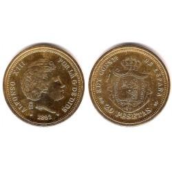 Medalla-Réplica Alfonso XIII. 1892. 20 Pesetas (EBC+)