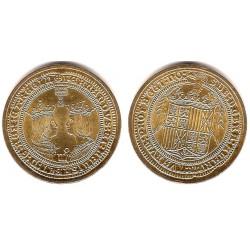 Medalla-Réplica Reyes Católicos. Doble Excelente (EBC+)