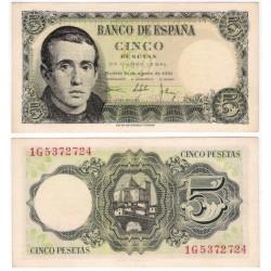 Estado Español. 1951. 5 Pesetas (SC) Serie 1G