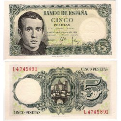 Estado Español. 1951. 5 Pesetas (SC) Serie L