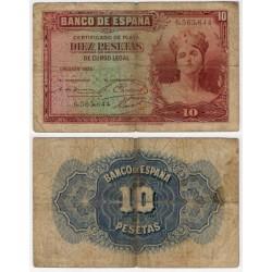 España. 1935. 10 Pesetas (RC) Sin Serie