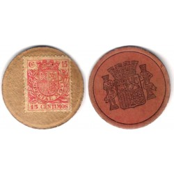 España (II República). 1937. 15 Céntimos (BC+/MBC-)
