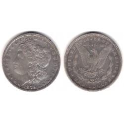 (110) Estados Unidos de América. 1879. 1 Dollar (MBC-) (Plata)