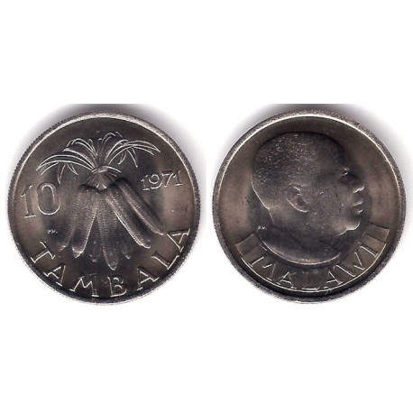 (10.1) Malaui. 1971. 10 Tambala (SC)