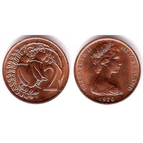(32.1) Nueva Zelanda. 1970. 2 Cents (SC)