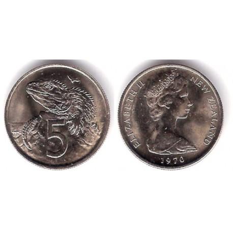 (34.1) Nueva Zelanda. 1970. 5 Cents (SC)