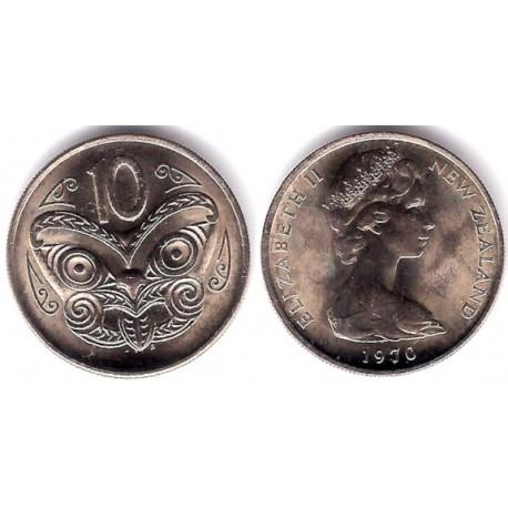(41.1) Nueva Zelanda. 1970. 10 Cents (SC)