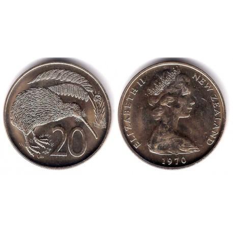 (36.1) Nueva Zelanda. 1970. 20 Cents (SC)