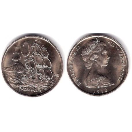 (37.1) Nueva Zelanda. 1970. 50 Cents (SC)