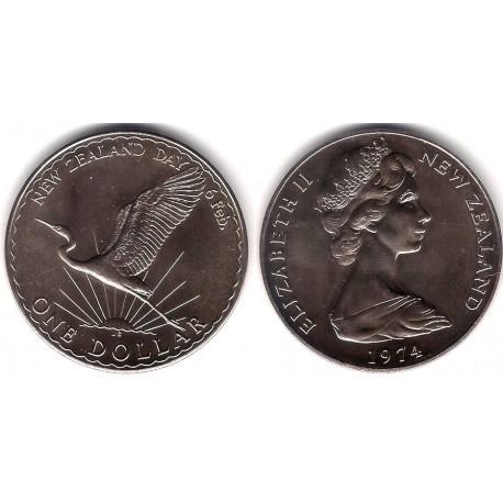 (45) Nueva Zelanda. 1974. 1 Dollar (SC)