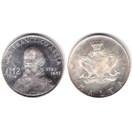 (24) Malta. 1974. 2 Pounds (SC) (Plata)