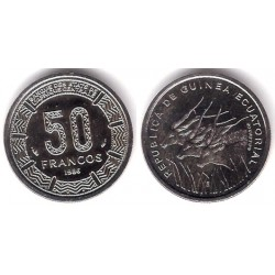 (64) Guinea Ecuatorial. 1986. 50 Francs (SC)