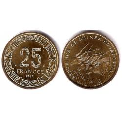 (60) Guinea Ecuatorial. 1985. 25 Francs (SC)