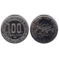 (59) Guinea Ecuatorial. 1986. 100 Francs (SC-)