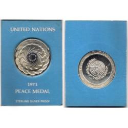 Medalla United Nations. 1971. Peace Medal (Plata)