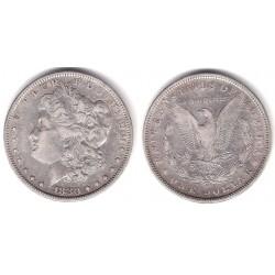 (110) Estados Unidos de América. 1880. 1 Dollar (MBC) (Plata)