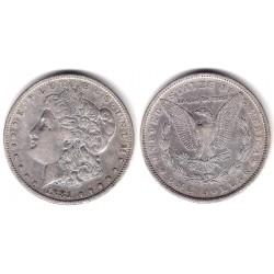(110) Estados Unidos de América. 1881. 1 Dollar (MBC+) (Plata)