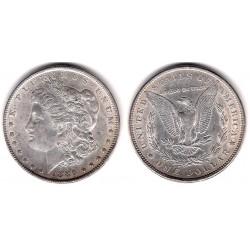 (110) Estados Unidos de América. 1886. 1 Dollar (EBC-) (Plata)