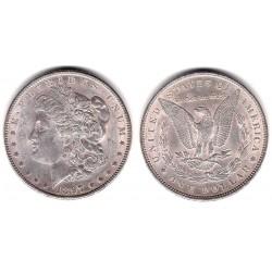 (110) Estados Unidos de América. 1897. 1 Dollar (EBC) (Plata)