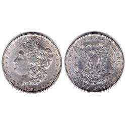 (110) Estados Unidos de América. 1889. 1 Dollar (EBC/EBC-) (Plata)
