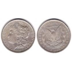 (110) Estados Unidos de América. 1890. 1 Dollar (MBC/MBC+) (Plata)