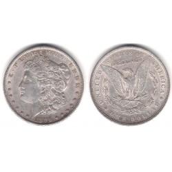 (110) Estados Unidos de América. 1896. 1 Dollar (EBC-) (Plata)