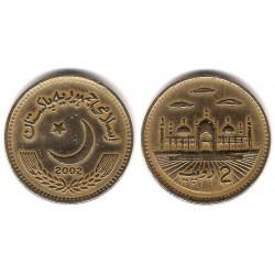 (64) Pakistán. 2002. 2 Rupees (MBC)