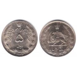 (1176) Irán. 1977/MS2536. 5 Rials (EBC)