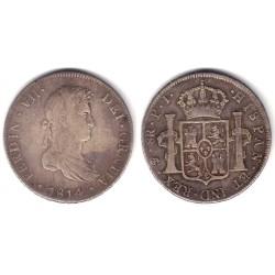 Fernando VII. 1814. 8 Reales (MBC-) (Plata) Ceca de Potosí PJ