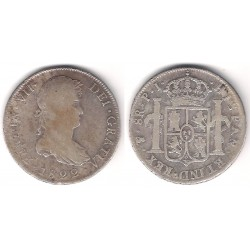 Fernando VII. 1822. 8 Reales (BC+) (Plata) Ceca de Potosí PJ