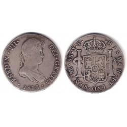 Fernando VII. 1813. 8 Reales (MBC-) (Plata) Ceca de Lima JP