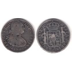 Carlos IV. 1795. 8 Reales (BC+) (Plata) Ceca de Mejico FM