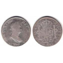 Fernando VII. 1821. 8 Reales (BC+) (Plata) Ceca de Mejico JJ