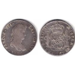 Fernando VII. 1821. 8 Reales (BC+/MBC-) (Plata) Ceca de Mejico JJ