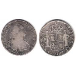Carlos IV. 1808. 8 Reales (MBC/MBC-) (Plata) Ceca de Mejico TH