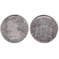 Carlos IV. 1804. 8 Reales (BC/BC+) (Plata) Ceca de Mejico TH
