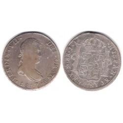 Fernando VII. 1817. 8 Reales (BC+) (Plata) Ceca de Mejico TH