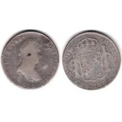 Fernando VII. 1815. 8 Reales (BC/BC+) (Plata) Ceca de Mejico JJ