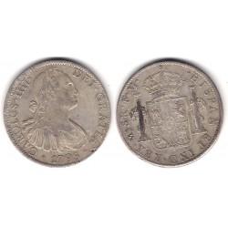 Carlos IV. 1798. 8 Reales (BC+/MBC-) (Plata) Ceca de Mejico FM
