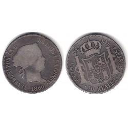 Isabel II. 1860. 10 Reales (BC) (Plata) Ceca de Madrid