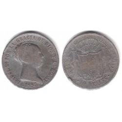 Isabel II. 1853. 10 Reales (BC/BC+) (Plata) Ceca de Madrid