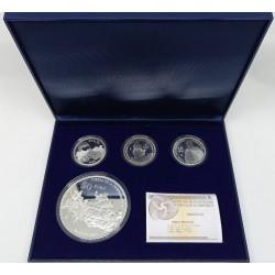 España. 2009. 50 + 10 + 10 + 10 Euro (Proof) (Plata) Bicentenario de la Guerra de la Independencia