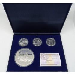 España. 2007. 50 + 10 + 10 + 10 Euro (Proof) (Plata) V Aniversario del Euro