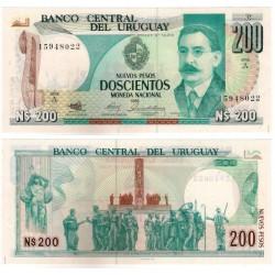 (66a) Uruguay. 1986. 200 Nuevos Pesos (EBC+)