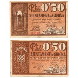 Gerona. 1937. 50 Céntimos (BC+/BC) Manchas