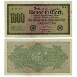(76h) Imperio Alemán (Weimar). 1922. 1000 Mark (MBC)