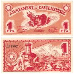 Castelltersol. 1937. 1 Peseta (SC)