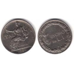 (62) Italia. 1924. 1 Lira (MBC)