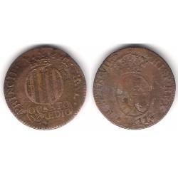 Fernando VII. 1811. Quarto y Medio (BC/BC-) Ceca de Cataluña